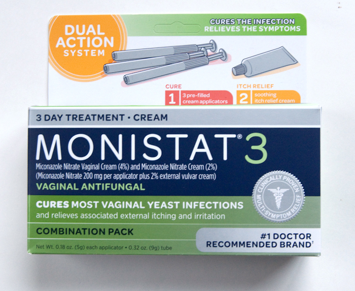 Monistat 3 Dual Action System 3 Day Treatment Cream The