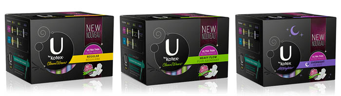 U By Kotex CleanWear Pads with 3D Capture Core
