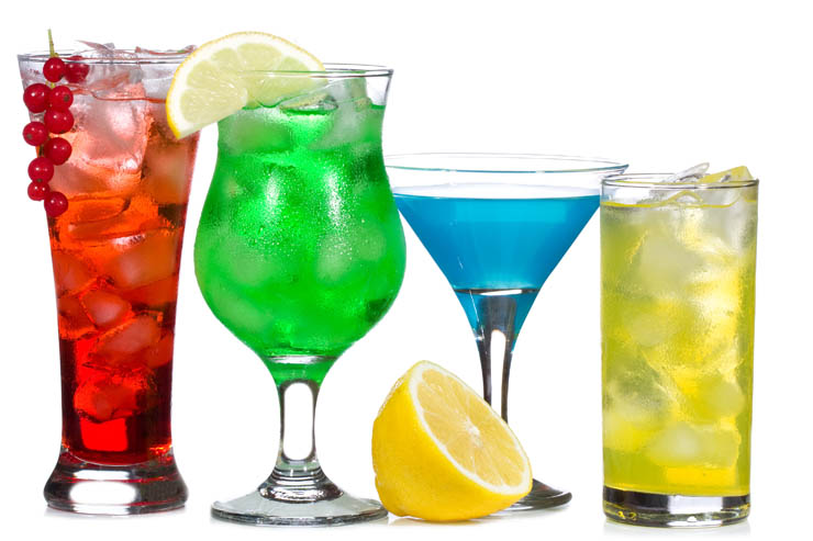 colorful alcoholic drinks