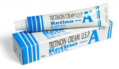 topical tretinoin cream in squeeze tube