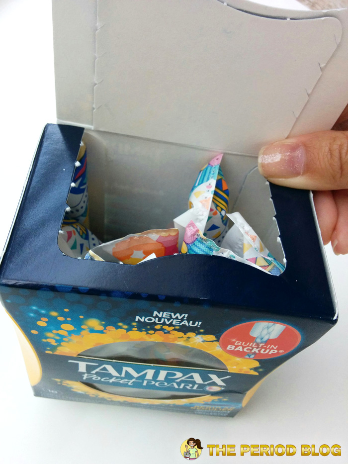 tampax pearl pocket tampons box