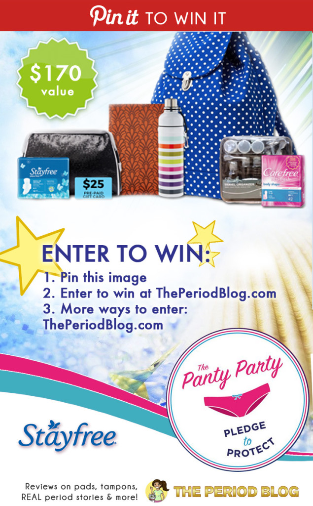 #GIVEAWAY Enter to Win a Stayfree Summer Prize Pack valued at $170 when you pin this image! Open to all residents of Canada. Contest closes Aug 28.
