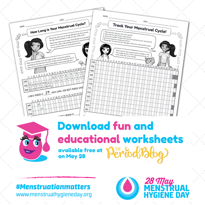menstrual hygiene day free worksheets theperiodblog